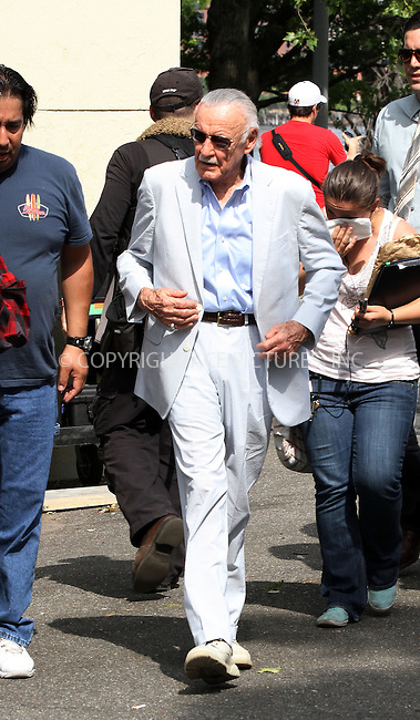 WWW.ACEPIXS.COM<br /> <br /> June 2 2013, New York City<br /> <br /> Writer Stan Lee was on the set of the new movie 'The Amazing Spiderman 2' on June 3 2013 in New York City<br /> <br /> <br /> By Line: Zelig Shaul/ACE Pictures<br /> <br /> <br /> ACE Pictures, Inc.<br /> tel: 646 769 0430<br /> Email: info@acepixs.com<br /> www.acepixs.com