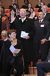 Alderman and longtime Chairman of the Chicago City Council Ed Burke raises his hand to be sworn in during the inauguration ceremony of Chicago Mayor Elect Rahm Emanuel and other public officials in Millennium Park in Chicago, Illinois on May 16, 2011.