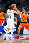 Real Madrid's player Sergio Rodriguez and Valencia Basket's Diot during the first match of the Semi Finals of Liga Endesa Playoff at Barclaycard Center in Madrid. June 02. 2016. (ALTERPHOTOS/Borja B.Hojas)