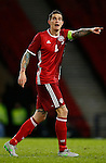 Daniel Agger of Denmark during the Vauxhall International Challenge Match match at Hampden Park Stadium. Photo credit should read: Simon Bellis/Sportimage