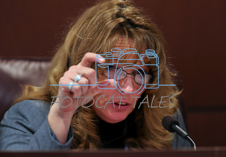 Nevada Assembly Speaker Marilyn Kirkpatrick, D-North Las Vegas, works in committee at the Legislative Building in Carson City, Nev. on Tuesday, Feb. 5, 2013. .Photo by Cathleen Allison