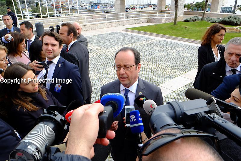 FranÁois Hollande - SOMMET DES PAYS DU SUD DE L'UNION EUROPEENNE