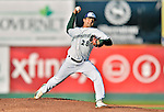 18 August 2012: Vermont Lake Monsters pitcher Andres Avila on the mound during a game against the Brooklyn Cyclones at Centennial Field in Burlington, Vermont. The Lake Monsters defeated the Cyclones 4-1 in NY Penn League action. Mandatory Credit: Ed Wolfstein Photo