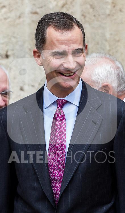 Spanish king, Felipe VI after the Quevedos iberoamerican award of grafic humor 2014. May 26,2016. (ALTERPHOTOS/Rodrigo Jimenez)