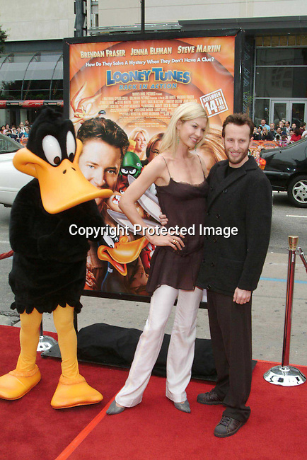 Jenna Elfman &amp; Bodhi Elfman<br />&ldquo;Looney Tunes:  Back In Action&rdquo; Film Premiere<br />Grauman's Chinese Theater<br />Hollywood, CA, USA<br />Sunday, November, 09, 2003 <br />Photo By Celebrityvibe.com/Photovibe.com