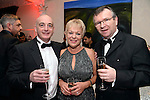 Pictured  at the IHF Ball in the Muckross Park Hotel at the weekend were John Dolan, Geraldine Tangney and Liam kealy from The Gleneagle Hotel.<br /> Photo: Don MacMonagle<br /> <br /> Repro free photo