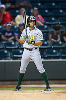 Daniel Carroll (19) of the Lynchburg Hillcats at bat against the Winston-Salem Dash at BB&T Ballpark on August 13, 2014 in Winston-Salem, North Carolina.  The Hillcats defeated the Dash 4-3.   (Brian Westerholt/Four Seam Images)