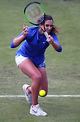 June 12th 2017,  Nottingham, England; WTA Aegon Nottingham Open Tennis Tournament day3; Laura Robson of Great Britain hits a forehand in her match against Julia Boserup of the USA