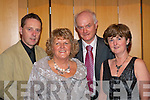 Having fun at the Mayor's Ball in the Malton Hotel Killarney on Saturday night were l-r: Gary Stack, Lillian McCarthy, Andrew McCarthy and Ella Stack all Killarney    Copyright Kerry's Eye 2008