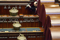 Roma, 19 Aprile 2013.Camera dei Deputati.Votazione del Presidente della Repubblica a camere riunite.Quarto Scrutinio..Bersani