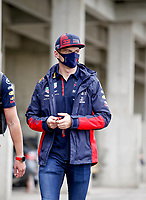 18th July 2020, Hungaroring, Budapest, Hungary; F1 Grand Prix of Hungary,  qualifying sessions;  33 Max Verstappen NLD, Aston Martin Red Bull Racing arrives at the track in Budapest Hungary
