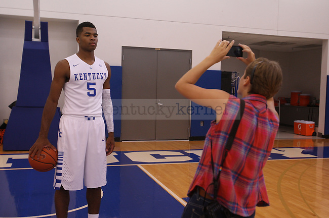 The UK men's basketball team hosts a photo day at the Joe Craft Center in Lexington, Ky., on Thursday, September 4, 2014. Photo by Adam Pennavaria | Staff