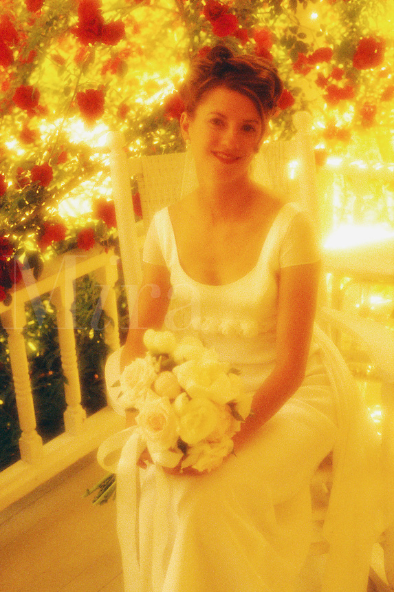 Portrait of as bride on her wedding day....
