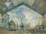 Claude Monet - Saint-Lazare Station (1877). Paris, musée d'Orsay.