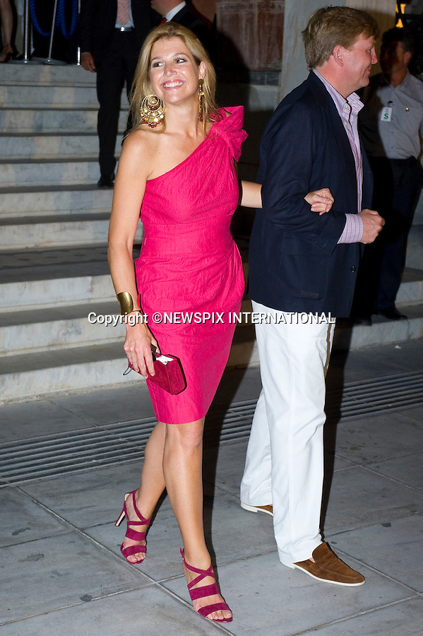 "Princess Máxima and Prince Willem-Alexander_.A pre-Wedding eveing party on the island of Spetses prior to the wedding of Prince Nikolaos and Tatiana Blatnik tomorrow at St Nikolaos Church_24/08/2010.Mandatory Credit Photo: ©DIAS-NEWSPIX INTERNATIONAL..**ALL FEES PAYABLE TO: ""NEWSPIX INTERNATIONAL""**..IMMEDIATE CONFIRMATION OF USAGE REQUIRED:.Newspix International, 31 Chinnery Hill, Bishop's Stortford, ENGLAND CM23 3PS.Tel:+441279 324672  ; Fax: +441279656877.Mobile:  07775681153.e-mail: info@newspixinternational.co.uk"