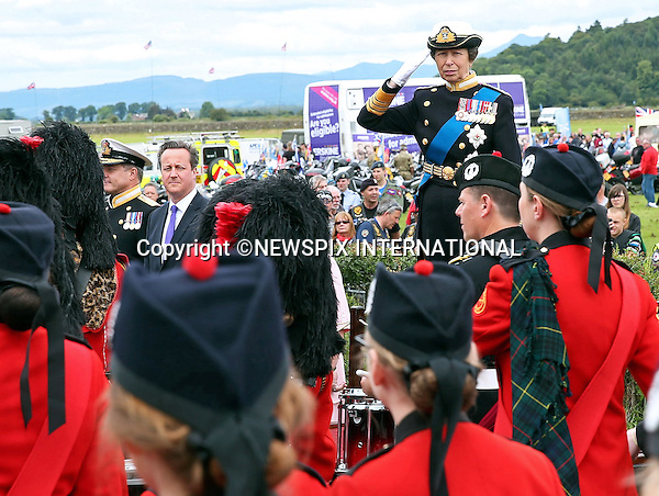 PRINCESS ANNE AND PRIME MINISTER DAVID CAMERON<br /> attend the Armed Forces Day National Event in Stirling, Scotland.<br /> Mandatory Credit Photo: &copy;Crown Copyright/NEWSPIX INTERNATIONAL<br /> <br /> **ALL FEES PAYABLE TO: &quot;NEWSPIX INTERNATIONAL&quot;**<br /> <br /> IMMEDIATE CONFIRMATION OF USAGE REQUIRED:<br /> Newspix International, 31 Chinnery Hill, Bishop's Stortford, ENGLAND CM23 3PS<br /> Tel:+441279 324672  ; Fax: +441279656877<br /> Mobile:  07775681153<br /> e-mail: info@newspixinternational.co.uk