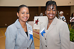 Dr. Charlotte Davis, Aldine Scholarship Foundation and Twiana Collier, 2010-2011 Board of Directors.