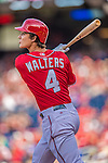 15 September 2013: Washington Nationals infielder Zach Walters in action against the Philadelphia Phillies at Nationals Park in Washington, DC. The Nationals took the rubber match of their 3-game series 11-2 to keep their wildcard postseason hopes alive. Mandatory Credit: Ed Wolfstein Photo *** RAW (NEF) Image File Available ***