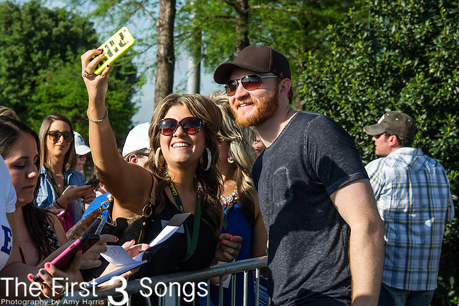 Eric Paslay attends the ACM & Cabela's Great Outdoor Archery Event during the 50th Academy Of Country Music Awards at the Texas Rangers Youth Ballpark on April 18, 2015 in Arlington, Texas.