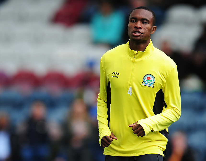Blackburn Rovers' Rekeem Harper during the pre-match warm-up <br /> <br /> Photographer Kevin Barnes/CameraSport<br /> <br /> The EFL Sky Bet League One - Rochdale v Blackburn Rovers - Saturday 9th September 2017 - Spotland Stadium - Rochdale<br /> <br /> World Copyright &copy; 2017 CameraSport. All rights reserved. 43 Linden Ave. Countesthorpe. Leicester. England. LE8 5PG - Tel: +44 (0) 116 277 4147 - admin@camerasport.com - www.camerasport.com