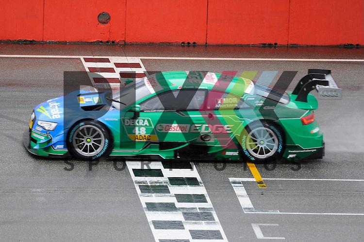 # 48 Edoardo Mortara auf Audi RS5 DTM vom Audi Sport Team Abt Sportsline faehrt ueber die Ziellinie beim Rennen der DTM auf dem Hockenheimring.<br /> <br /> Foto &copy; P-I-X.org *** Foto ist honorarpflichtig! *** Auf Anfrage in hoeherer Qualitaet/Aufloesung. Belegexemplar erbeten. Veroeffentlichung ausschliesslich fuer journalistisch-publizistische Zwecke. For editorial use only.