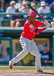 11 March 2016: Philadelphia Phillies outfielder Roman Quinn in action during a Spring Training pre-season game against the Atlanta Braves at Champion Stadium in the ESPN Wide World of Sports Complex in Kissimmee, Florida. The Phillies defeated the Braves 9-2 in Grapefruit League play. Mandatory Credit: Ed Wolfstein Photo *** RAW (NEF) Image File Available ***