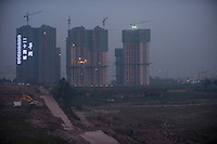 Evening Landscape View Of Urban Residential Construction In Chongqing, China.  © LAN