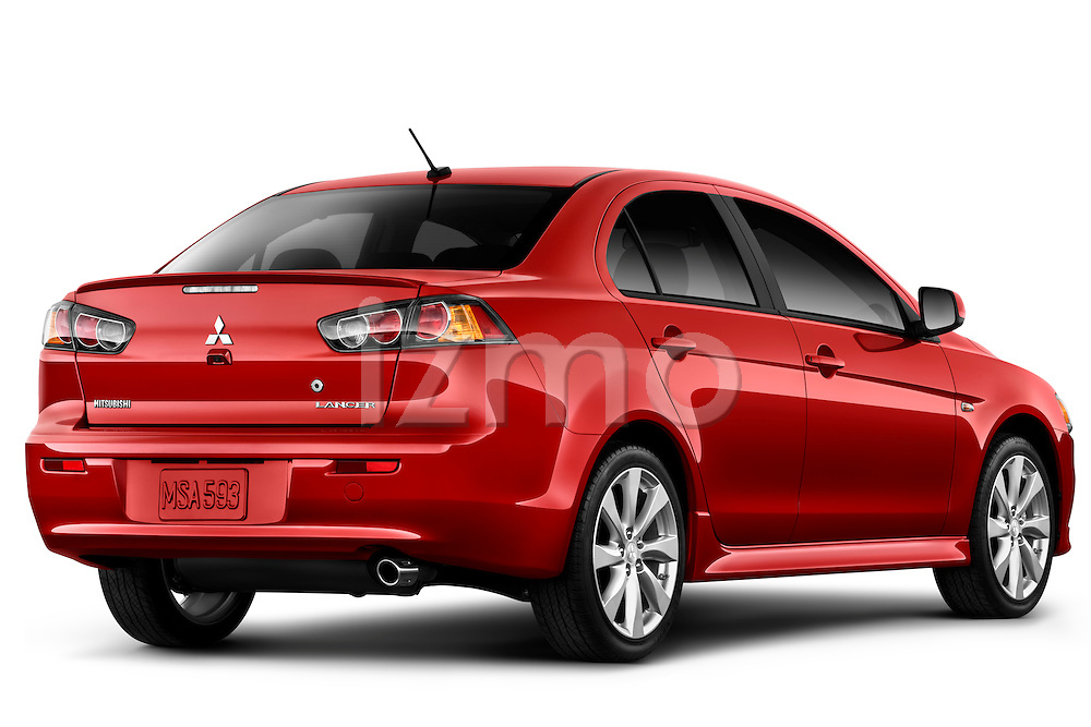 Rear three quarter view of a 2012 Mitsubishi Lancer GT Touring