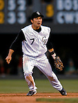 24 August 2007:  Colorado Rockies second baseman Kazuo Matsui in action against the Washington Nationals at Coors Field in Denver, Colorado. The Rockies rallied with 5 runs in the bottom of the 9th inning to defeat the Nationals 6-5 in the first game of their 3-game series...Mandatory Photo Credit: Ed Wolfstein Photo