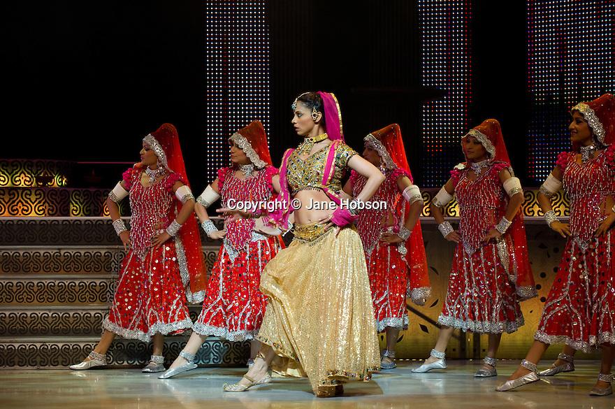 """London, UK. 01/06/2011.  """"Merchants of Bollywood"""" opens at the Peacock Theatre, London. The company features: Ayesha, Carol Furtado, Tony Bakshi, Satwinder Jaspal, Uday, Deepak Rawat, Shantilal, Chander Khanna, Swati Ramchanra Gamit, Komal Kadam, Sadika Khan, Nisha Mahendra, Hetal Seta, Ajisha Shah, Roshni Shetty, Suneena Sudevan, Moushmi Suri, Khushbu Jitendra Vakani, Pradip Mahadev Avaghade, Raju Balan, Jayesh Dharaiya, Santosh Mani, Rutul Lalit Pancholi, Himanshu Parihar, Sachin Salvi, Hiten Jitendra Shah, Vasim Mohammad Shaikh, Vijay Ramprasad Singh, Kiran Wagchawre.. Photo credit should read Jane Hobson"""