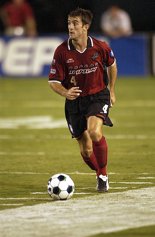 DALLAS, TX -OCTOBER 2: Paul Broome #4 of the Dallas Burn in action against Colorado Rapids at Cotton Bowl in Dallas on October 2, 2002 in Dallas, Texas. (Photo by Rick Yeatts)