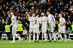 Real Madrid's players celebrate goal during La Liga match between Real Madrid and Valencia CF at Santiago Bernabeu Stadium in Madrid, Spain. December 01, 2018. (ALTERPHOTOS/A. Perez Meca)