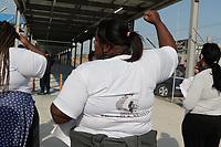 Campinas (SP), 30/07/2020 -Protesto-Um grupo de moradores da ocupação Nelson Mandela, no Jardim Nossa Senhora Aparecida, de Campinas (SP), protestou na tarde desta quinta-feira (30), durante entrega do terminal do BRT do Satélite Íris, feita pela Prefeitura, por conta da situação que estão vivendo.<br /> Com a reintegração de posse do terreno marcada para o dia 31 de agosto, as famílias estão preocupadas como farão para sobreviver após a data - isso porque mais da metade delas pode ficar de fora de um programa de auxílio-aluguel oferecido pela Administração.