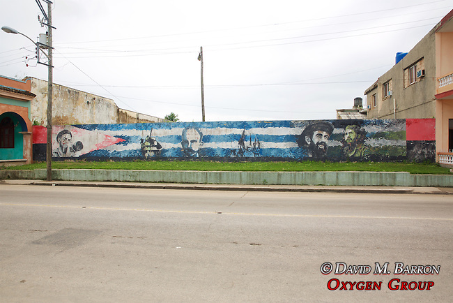 Leaders Of Cuba Themed Mural