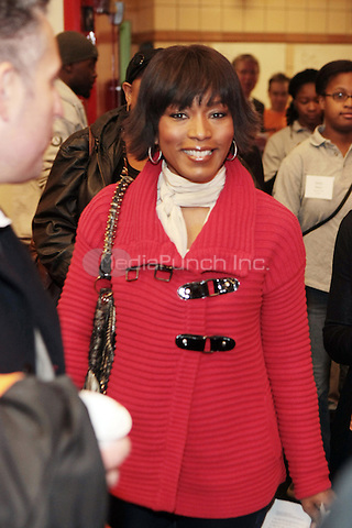 New York, NY- January 16- Actress Angela Bassett at the New York City Service Program in Honor of Martin Luther King Jr. Day held at the Mirabal Sisters Campus in West Harlem, New York City.  Photo Credit: Mpi43 /MediaPunch Inc,