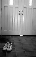 Shoes and front door, 1987.  &amp;#xA;<br />