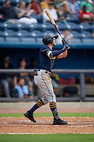 Montgomery Biscuits Miles Mastrobuoni (5) at bat during a Southern League game against the Biloxi Shuckers on May 8, 2019 at MGM Park in Biloxi, Mississippi.  Biloxi defeated Montgomery 4-2.  (Mike Janes/Four Seam Images)