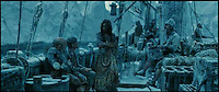 BNPS.co.uk (01202 558833)<br /> Pic: SnowBusiness/BNPS<br /> <br /> ***Please Use Full Byline***<br /> <br /> A screen shot from the film Pirates of the Caribbean, At Worlds End. <br /> <br /> Staff are celebrating their success in the way only they can...by turning a warm september day into a Xmas snow scene in seconds.<br /> <br /> The worlds biggest producer of snow is celebrating after another bumper year in which they have supplied the film and television industry with the white stuff from the unlikely headquarters near Stroud in Gloucestershire.<br /> <br /> The tiny British company are the first port of call for Hollywood producers when the on screen temperature drops and they can't wait on the weather - Recent credits include Maleficent, Snow White and the Huntsman and Philomena.<br /> <br /> Homegrown favourites like Dr Who and Downton are also customers, owner Darcy Crownshaw claims 'Everywhere you go the snow you see will probably be ours, from Harrods and Selfridges shop windows to the adverts and programmes on your television and films at the cinema.'