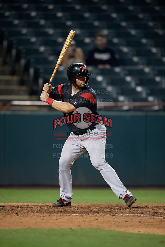 Richmond Flying Squirrels Matt Winn (15) at bat during an Eastern League game against the Bowie Baysox on August 15, 2019 at Prince George's Stadium in Bowie, Maryland.  Bowie defeated Richmond 4-3.  (Mike Janes/Four Seam Images)