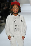 Model walks runway in an outfit from the Jordan kids Fall 2017 collection, during the Rookie USA Fall 2017 kidswear fashion show, presented by Haddad Brands at NYFW: The Shows Fall 2017 at Skylight Clarkson Square on February 15, 2017.