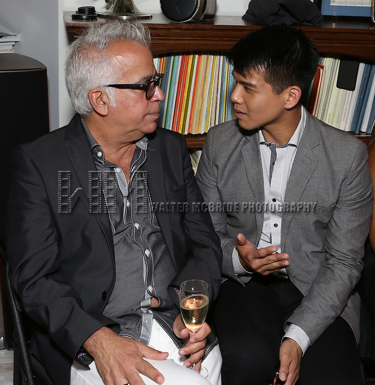 Richard Jay-Alexander and Telly Leung attend 'Parlor Night' A benefit evening for The Broadway Inspirational Voices Outreach Program at the home of Roy and Jenny Neiderhoffer on June 22, 2015 in New York City.