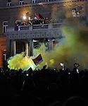 TENIS, BEOGRAD, 06. Dec. 2010. - Vise hiljada gradjana se okupilo veceras ispred Starog dvora kako bi pozdravili tenisere Srbije i strucni stab - povodom osvajanja Dejvis kupa. Foto: Nenad Negovanovic