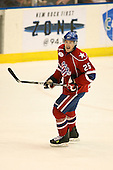 March 15, 2009:  Defenseman Jordan Henry (25) of the Rochester Amerks, AHL affiliate of Florida Panthers, during the third period of a regular season game at the Blue Cross Arena in Rochester, NY.  Hamilton defeated Rochester 4-3 in a shoot out.  Photo Copyright Mike Janes Photography 2009