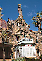 "Galveston: Gresham's Castle--Also known as Bishop's Palace. Architect Nicholas J. Clayton 1889-93. Victorian, now a Conservatory, Broadway & 14th. National Register of Historic Places, 1970. This house is ""Clayton's Masterpiece"".  Photo '96."