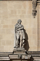 Antoine-Laurent de Lavoisier, 1743 - 1794, referred to as the father of modern chemistry, victim of the French Revolution and posthumously exonerated, Pavillon Richelieu & Colbert (1857), Louvre Museum, Paris, France Picture by Manuel Cohen