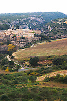 Minerve village Minervois. Languedoc. Vineyards. France. Europe.