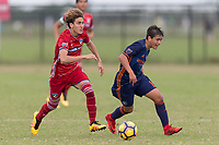 LAKEWOOD RANCH, FL - December 4, 2017: U-16/17 FC Dallas vs. New York City FC. The 2017 Development Academy Winter Showcase at Premier Sports Campus.