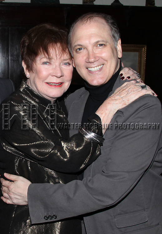 Polly Bergen & Charles Busch.attending the Joan Rivers hosted book party in honor of authors, Alan Shayne and Norman Sunshine's new book, 'Double Life: A Love Story from Broadway to Hollywood at the 21 Club in New York City.