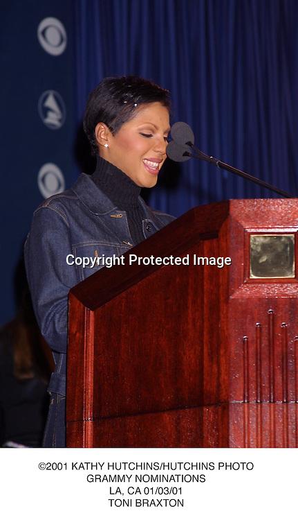©2001 KATHY HUTCHINS/HUTCHINS PHOTO.GRAMMY NOMINATIONS.LA, CA 01/03/01.TONI BRAXTON