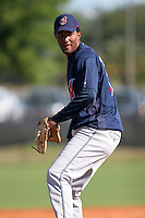 Cleveland Indians minor leaguer Luis Valdez during Spring Training at the Chain of Lakes Complex on March 17, 2007 in Winter Haven, Florida.  (Mike Janes/Four Seam Images)